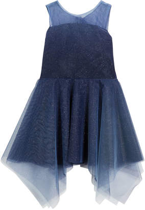Zoe Ombre Shimmer Tulle Sleeveless Dress Size 4-6X