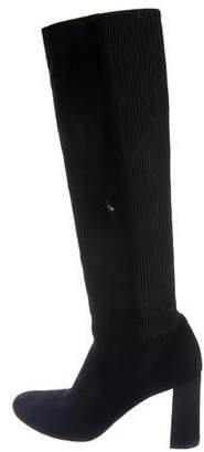 Chloé Suede Round-Toe Knee-High Boots