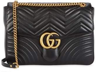 a89b87ab7d0fe at Harvey Nichols · Gucci GG Marmont Large Leather Shoulder Bag
