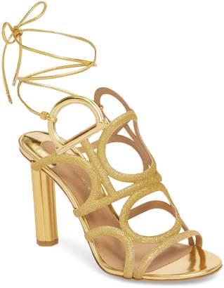 Salvatore Ferragamo Vinci Lace-Up Heeled Sandal