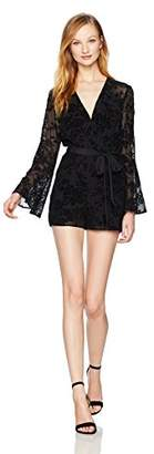 BCBGeneration Women's Bell Sleeve Lace Romper