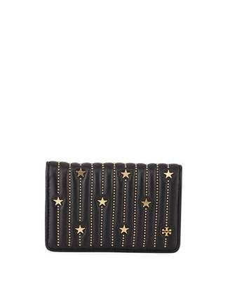 Tory Burch Fleming Medium Slim Star-Stud Wallet