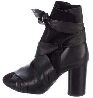 Isabel Marant Azel Leather Ankle Boots