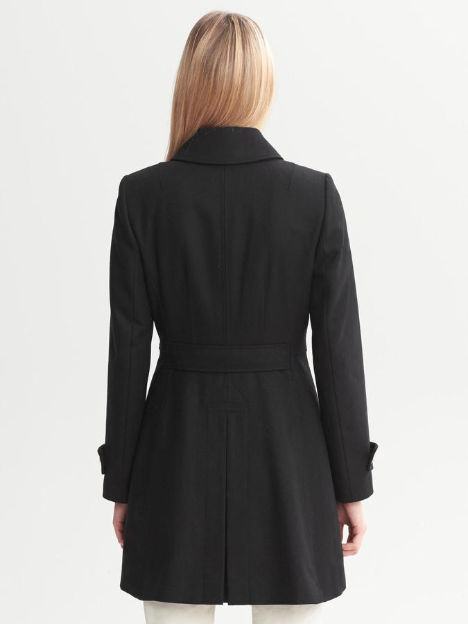 Banana Republic Heritage Fit-and-Flare Wool Coat