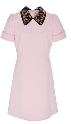 N°21 N 21 Ana Embellished Collar Dress