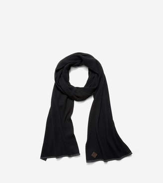 Cole Haan Cashmere Blend Tipped Rib Muffler Scarf