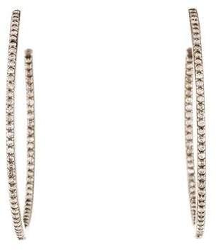 Sheryl Lowe Inside-Out Diamond Hoop Earrings