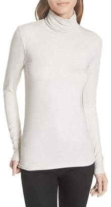 Majestic Filatures Soft Touch Metallic Turtleneck