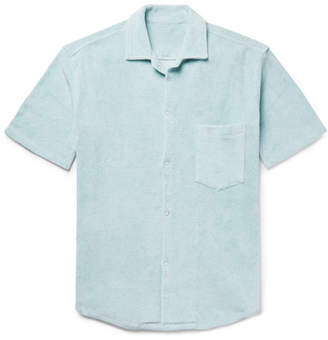 The Elder Statesman Camp-Collar Cotton-Terry Shirt