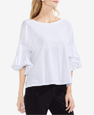 Vince Camuto Ruffled Drop-Shoulder T-Shirt