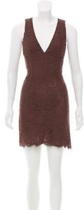 Michael Kors Sleeveless Lace Dress Brown Sleeveless Lace Dress