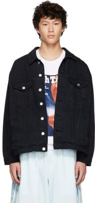 Martine Rose Black Oversized Denim Jacket