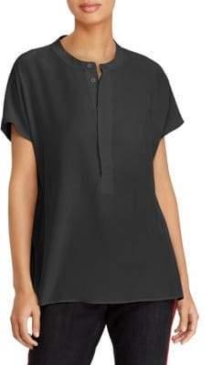 Polo Ralph Lauren Short-Sleeve Silk Blouse