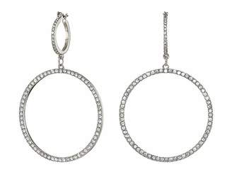GUESS Double Pave Ring Drop Earrings