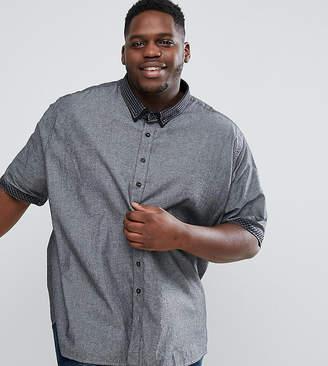 Jacamo PLUS Shirt In Gray Chambray