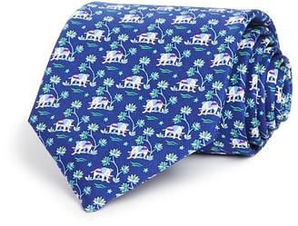 Salvatore Ferragamo Elephants and Palm Trees Classic Tie $190 thestylecure.com