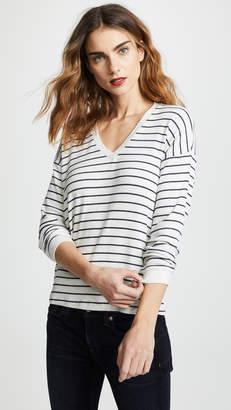 Velvet Modesty Stripe Long Sleeve Tee