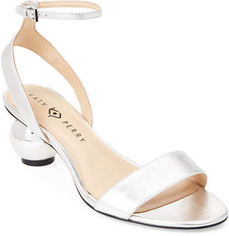 Katy Perry Silver Adventure Ankle Strap Sandals