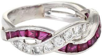 One Kings Lane Vintage Tiffany & Co Ruby & Diamond Band - Precious & Rare Pieces