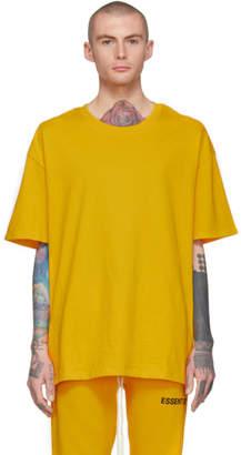 Essentials Yellow Logo Boxy T-Shirt