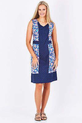 NEW Rasaleela Womens Knee Length Dresses Ava Cotton Shift Dress SakuraSpot