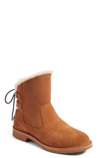 Women's Ugg Naiyah Lace-Back Genuine Shearling Boot