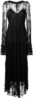 Black Coral long lace dress