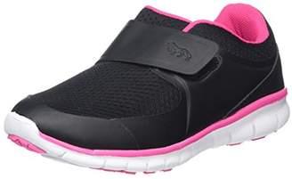 Lonsdale London Unisex Kids' Lima Velcro Multisport Outdoor Shoes, (Black/Pink), 32 EU