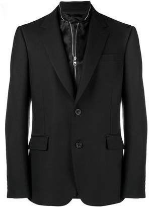 Alexander McQueen bib inlay blazer