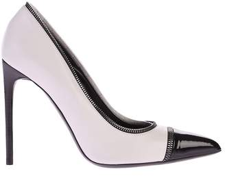 Tom Ford White And Black Zipped Pumps