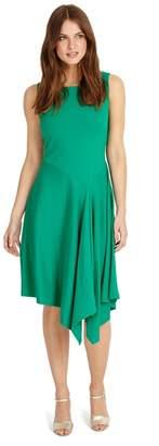 Phase Eight Green Yasmine Waterfall Dress