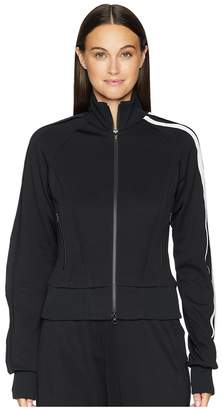 Yohji Yamamoto 3 Stripes Selvedge Matt Track Jacket Women's Coat