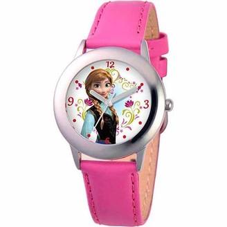 Disney Frozen Anna Girls' Stainless Steel Watch, Peach Strap