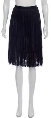 Elie Saab Lace Fringe-Trimmed Skirt w/ Tags