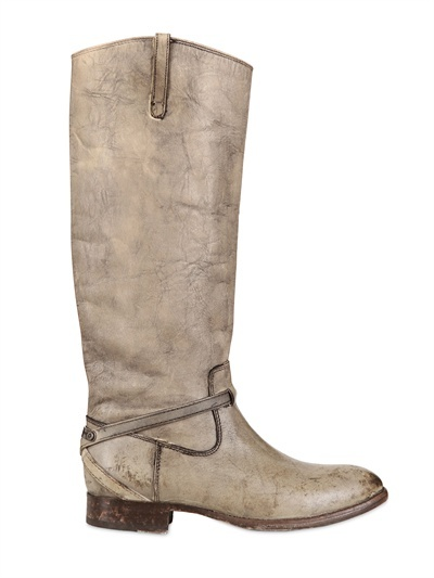 Frye 30mm Stone Washed Leather Boots
