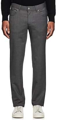 Hiltl Men's Wool Twill Slim Trousers - Gray Size 34