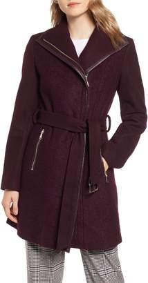 Tahari Elaine Boiled Wool Blend Coat