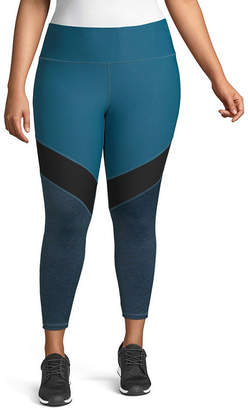 Xersion High Waisted Colorblock Workout Capris - Plus