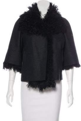 Marni Shearling-Trimmed Wool-Blend Jacket