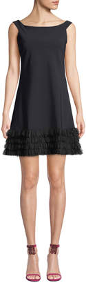 Chiara Boni Rigmor 3D-Hem Scoop-Neck Dress