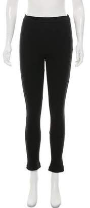 Givenchy Mid-Rise Zip-Accented Leggings