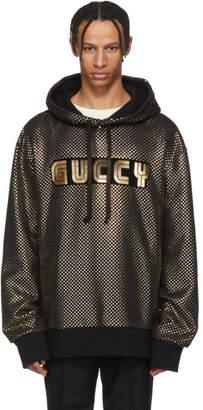 Gucci Black Sega Guccy Logo Hoodie