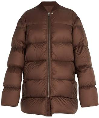 Rick Owens Flight Necked Duvet Jacket - Mens - Brown