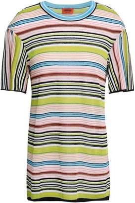 643237fef24b Missoni Metallic Striped Crochet-knit T-shirt