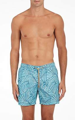 Trunks Thorsun Men's Fan-Print Swim Blue