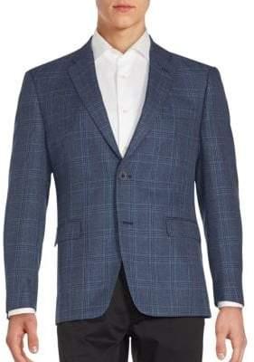 Tommy Hilfiger Notch Lapel Windowpane Jacket