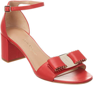Salvatore Ferragamo Gavina Leather Ankle Strap Sandal