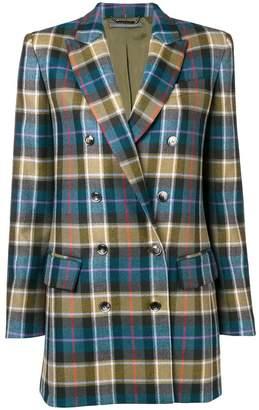 Alberta Ferretti tartan double-breasted blazer