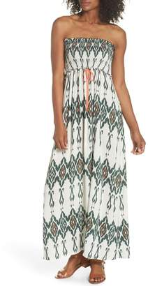 Heidi Klein Smocked Cover-Up Maxi Dress