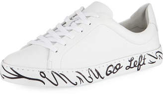 Schutz When Nothing Goes Right... Go Left Leather Sneakers